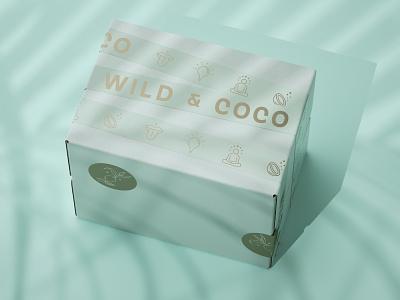 Wild & Coco Shipping Packaging branding agency visual identity illustration branding designer branding design graphic design logotype identity visual design branding