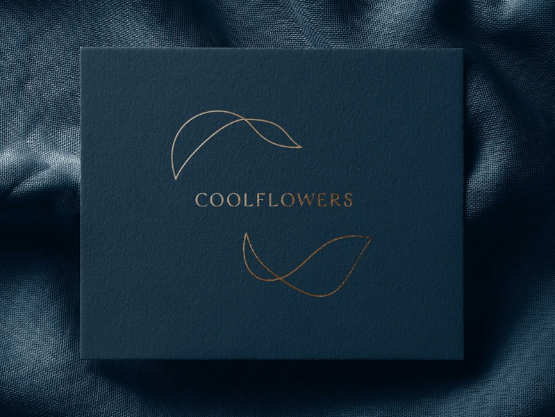 CoolFlowers: Flower Shop Branding simple linear vector branding designer florist identity flower shop identity identity visual design logotype design logotype designer logotype branding agency branding design branding