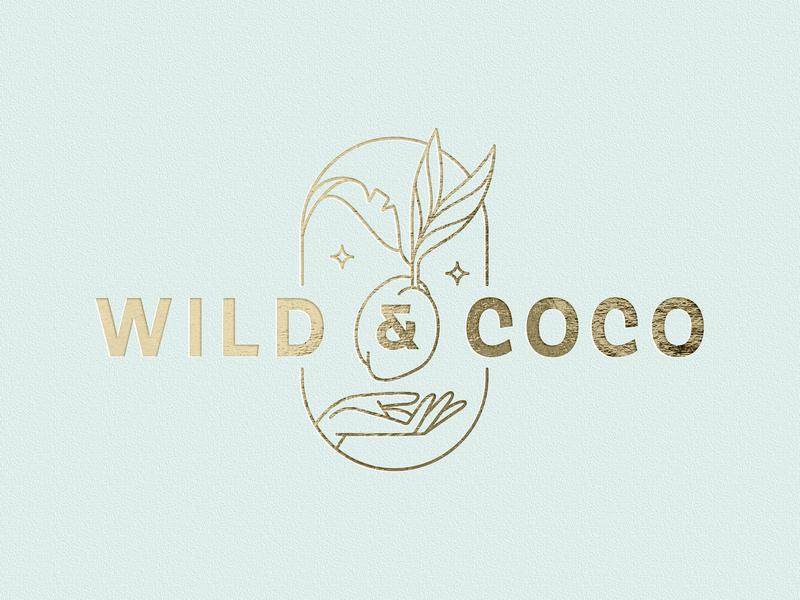 Wild & Coco Logotype identity simple logotype branding agency vector branding designer graphic design branddesign coconut linear visual design branding design logo illustration branding