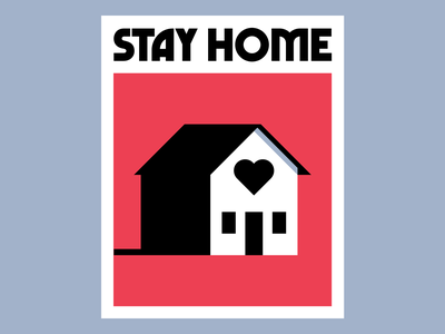 Stay Home house vector print poster illustration stayhome
