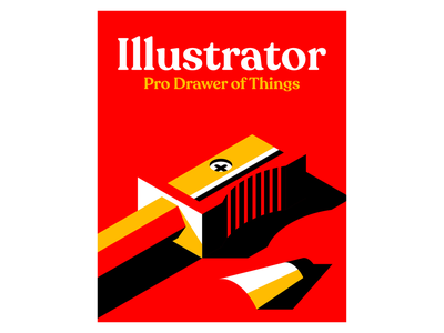 Illustrator vector sharpener poster pencil illustrator
