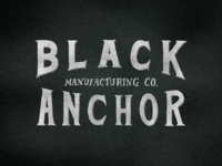 Black Anchor MFG CO.