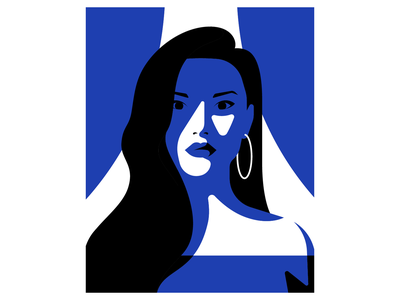 Lady In Blue woman lady vector portrait