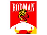 Rodman portrait illustration vector the last dance nba chicago bulls rodman