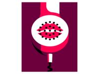 Social Distance Relationship lipstick phone vector illustration