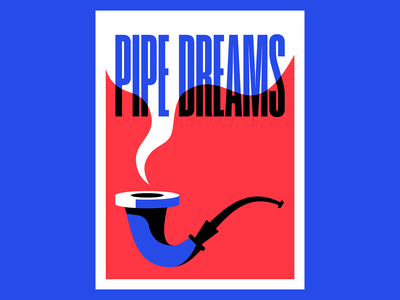Pipe Dreams illustration vector smoke pipe