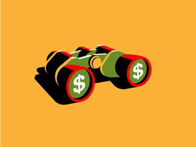 Social Security vector illustration money binoculars social security