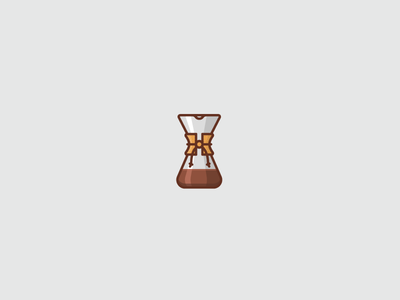 Chemex beverage illustration icons icon coffee chemex