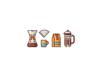 Coffee icons WIP