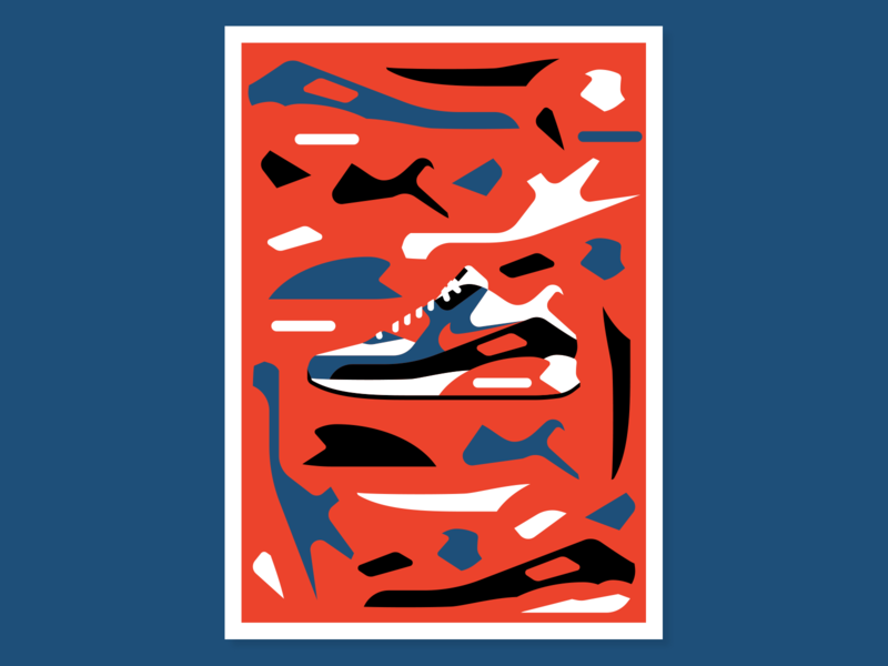 Air Max 90 airmax shoe vector illustratino nike