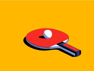 Ping Pong vector ball paddle illustration sport pingpong