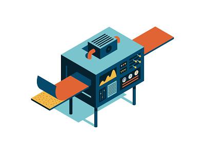 Wood Machine wood machine isometric vector illustration