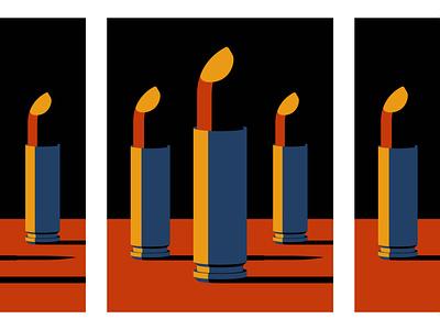 Toxic Vanity illustration vector shell bullet lipstick beauty vanity