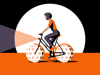 Bicyle illustration vector girl bike bicycle