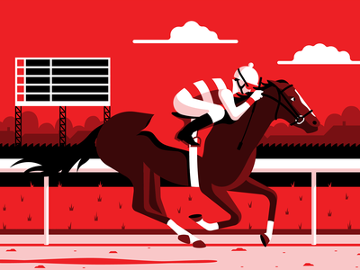Jockey jockey person horses vector illustration derby kentucky