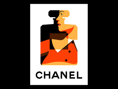 Chanel woman illustration vector ad chanel