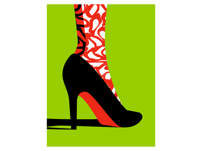 Appeal illustration woman heel vector appeal