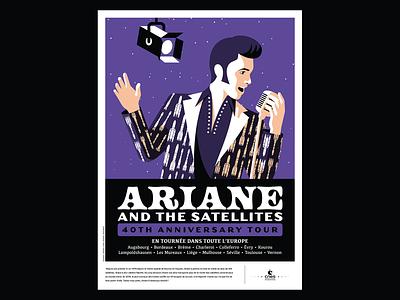 Ariane vector musician singer chracter poster illustration