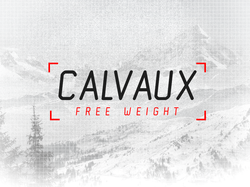 Calvaux Free  font family typeface sans serif edgy calvaux free