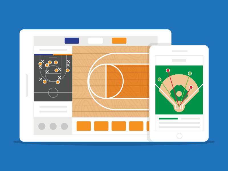 GC Product Shots scorekeeping baseball basketball spray chart sports