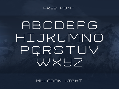 Mylodon FREE! extended mylodon light typography free font