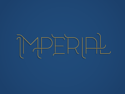 Imperial Type ligatures swashes imperial hand lettering typography