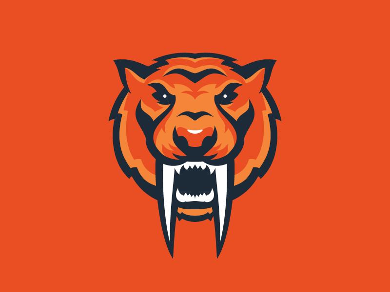 Sabertooth, rawr rawr extinct vector sports logo tiger sabertooth