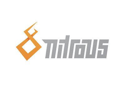 Nitrous beverage nitrous energy drink logo flame geometric orange fire nos