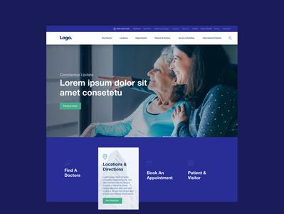hospital website ui web design doctor medical hospital