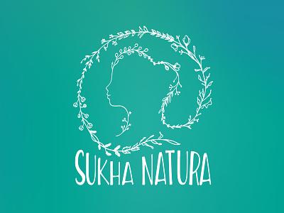 Sukha Natura     Brand Design health beauty logo cosmetics cosmetics logo natural nature brand design branding brand