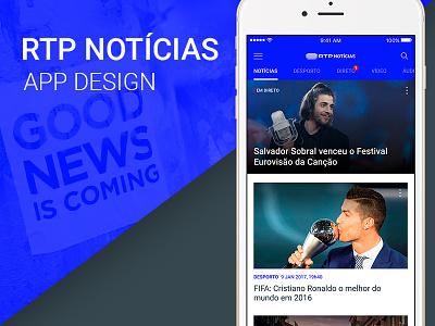 APP RTP Notícias news ui app