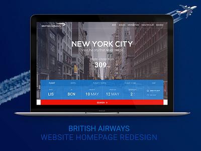 British Airways' redesign airline website british aiways redesign ui web