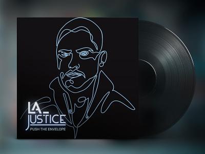 Cover Artwork   LA Justice sound portuguese lisbon illustration neon logo cover music artist artwork album