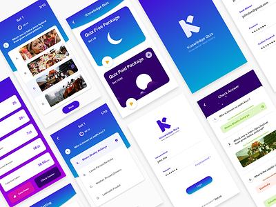 Quiz App Game - Nepal app design quiz time game app ui  ux design quiz
