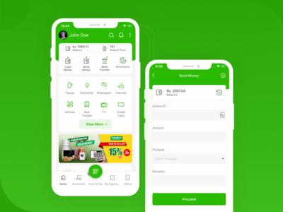 eSewa - Mobile Wallet (Nepal) UI Design
