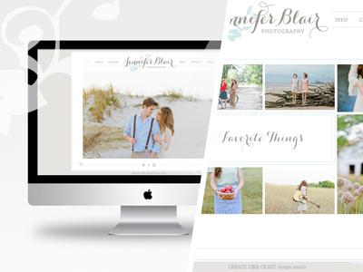 Jennifer Blair Photography ( branding + web design )