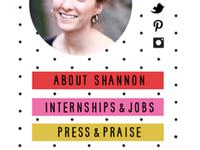 the art of being an intern / blog design