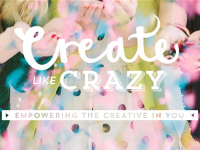 create like crazy logo / site header