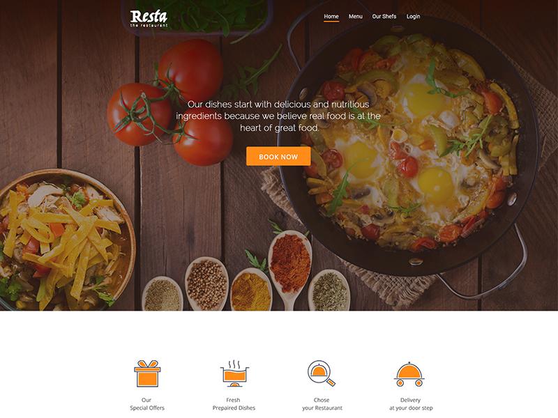 restaurant landing page concept by sanjay kumar dribbble dribbble
