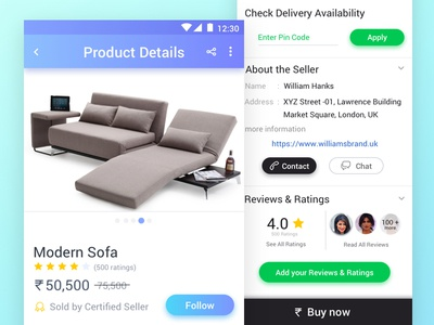 Product Details Screen