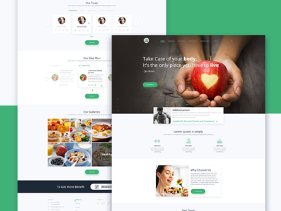 BeingFit Kitchen Landing page (Concept)