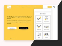 One Place Landing page (Concept)