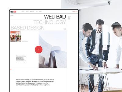 Weltbau |  Development interaction digital developer design dribbble hellodribbble concept modern minimal desktop branding typography ui ux real estate layout grid idaproject interface