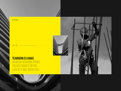 Jelezno | Development landing agency industry brand website digital design idaproject concept typography web clean grid minimal uxui real estate desktop interface dribbble layout