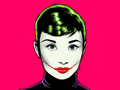 Joker Audrey x Melonkicks antonio de felipe audrey hepburn audrey procreate ipad digital illustration illustration