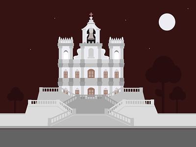 Indian city Illustration- Goa city india goa illustration design