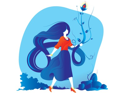 Dreams girl illustration dream girl vector colours illustration design