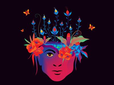 MINDLESS...... humanity flowers mindless inktober2019 vector colours india illustration design