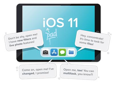 iOS 11 appstore illustration ios iphone ipad vector aro apple ios11