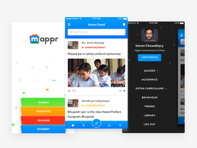 Mappr - Your Learning Communer ui ux social media ios teachers students institutes parents design education